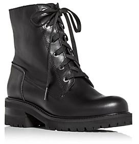 La Canadienne Women's Camille Waterproof Block Heel Combat Boots