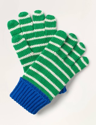 Knitted Striped Gloves