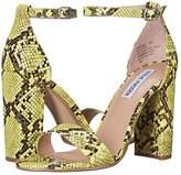 Steve Madden Carrson Heeled Sandal (Yellow Snake) High Heels