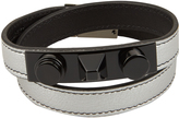 Saint Laurent Metal-studded wraparound leather bracelet