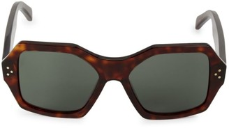 Celine 55MM Hexagon Sunglasses