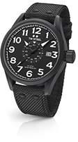 TW Steel Men's 'Volante' Quartz Stainless Steel and Nylon Dress Watch, Color:Black (Model: VS41)