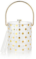 Kate Spade Raise A Glass Dotted Handled Ice Bucket with Tongs