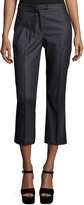 Nanette Nanette Lepore Chalk-Stripe Denim Cropped Pants