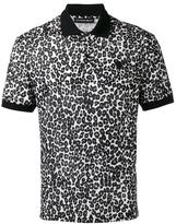 Alexander McQueen leopard print polo shirt - men - Cotton - XL