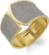 ABS by Allen Schwartz Gold-Tone Gray Texture Cuff Bracelet