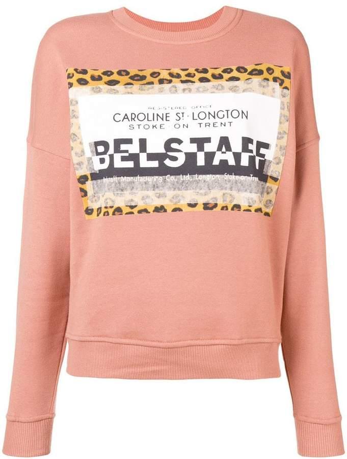 Belstaff patched logo sweatshirt