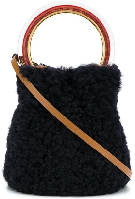 Marni Pannier fur bucket bag