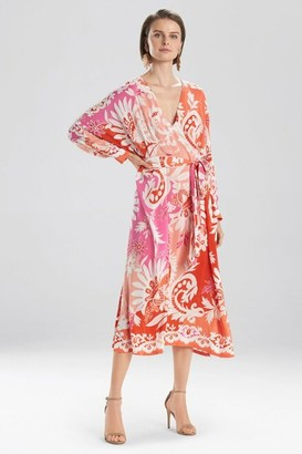 Natori Mantilla Scroll Beaded Maxi Dress