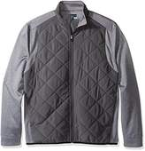 PGA TOUR Men's Elements Long Sleeve Full Zip Quilted Mixed Media Jacket