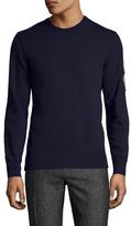 Alexander McQueen Solid Logo Embroidered Crewneck Sweatshirt