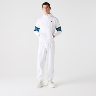 Lacoste Men's SPORT Hooded Colorblock Fleece Sweatshirt