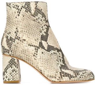 RED Valentino RED(V) snakeskin-effect boots