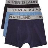 River Island MensNavy trunks pack