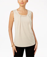 JM Collection Pleated Embellished Top, Only at Macy's