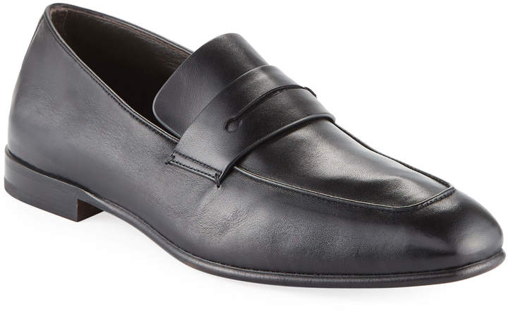 Ermenegildo Zegna Lasola Soft Napa Leather Penny Loafer