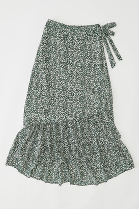 Urban Outfitters Floral Wrap Maxi Skirt