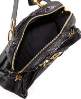 Chloé Paraty Medium Python Shoulder Bag, Black