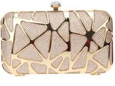 Fawziya Glitzy Rhinestone Clasp Box Evening Clutch Handbag