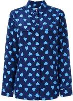 Equipment heart print shirt - women - Silk - S