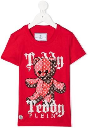 Philipp Plein Junior teddy-print T-shirt