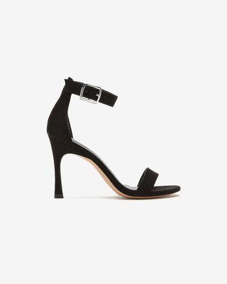 Express Square Toe Ankle Buckle Heels