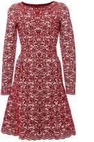 Alaia Wool-Blend Jacquard-Knit Mini Dress