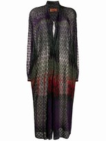 Missoni glitter long cardigan
