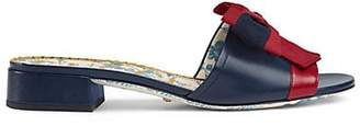 Gucci Women's Leather Sandals - Navy