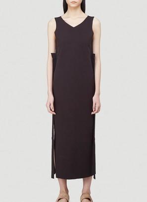 Issey Miyake Knitted V-Neck Dress
