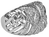 Fine Jewellery Diamond and Sterling Silver Ring