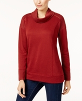 Style&Co. Style & Co Style & Co Petite Funnel-Neck Sweatshirt, Created for Macy's