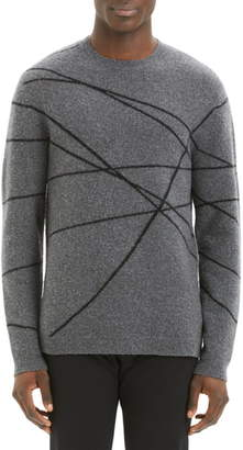 Theory Aris Wizard Regular Fit Crewneck Sweater