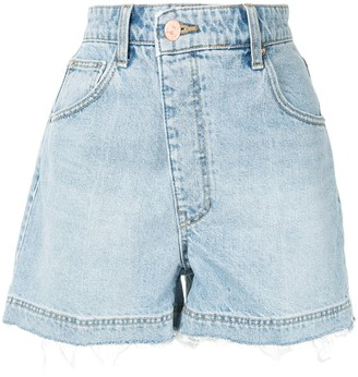 Eenk Asymmetric Distressed Effect Shorts