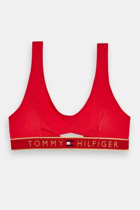 Tommy Hilfiger Womens Red Cut Out Bra - Red