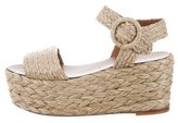 Tory Burch Straw Flatform Sandals