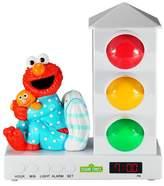Sesame Street Stoplight Sleep Enhancing Alarm Clock for Kids - Elmo with Pillow