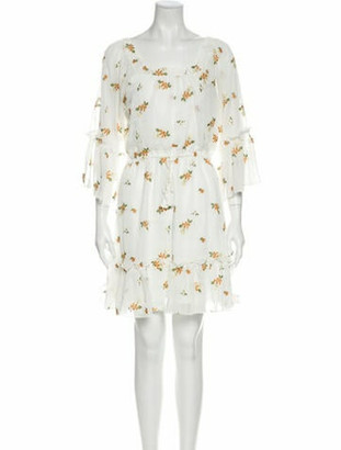 Cupcakes And Cashmere Floral Print Mini Dress w/ Tags White