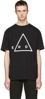 McQ by Alexander McQueen Black 'End' T-Shirt