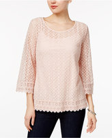 Style&Co. Style & Co. Bell-Sleeve Lace Top, Only at Macy's