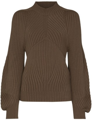 Low Classic Ribbed-Knit Puff-Sleeve Jumper