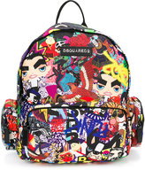 DSQUARED2 manga printed backpack