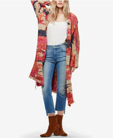 Free People On My Mind Printed Cardigan