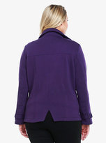 Torrid Fleece Double-Breasted Peacoat