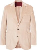 Brunello Cucinelli Sand Sea Island Cotton-corduroy Blazer - Pink