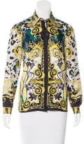 Versace Silk Baroque Print Top