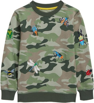 Boden Kids' Embroidered Camo Shirt