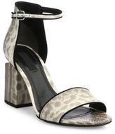 Alexander Wang Abby Tilt-Heel Snakeskin Sandals