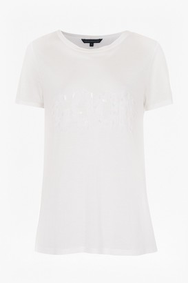 French Connection Good Bad Sequin T-Shirt