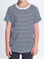 American Apparel Youth Poly-Cotton Striped Short Sleeve Crew Neck